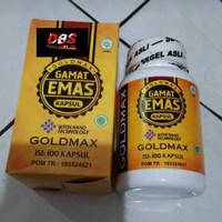 Gold Max Gamat Emas Kapsul Herbal Obat Batu Ginjal Original BPOM Asli
