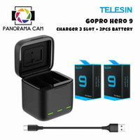 Paket Battery Pack GoPro Hero 9 Box (Telesin Brand)