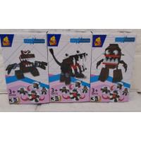 Lego Hot Gear Brick Monster - 3 Karakter - Model 1