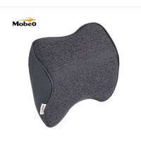 AWS Mobeo Bantal Mobil Sandaran Leher Memory Foam Katun Linen Car Neck