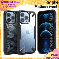 Case iPhone 13 Pro Max Mini Ringke Fusion X Anti Crack Casing Original - iPh 13 Pro Max, Black