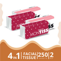 Montiss Facial Tissue 250 Sheets 4 in 1