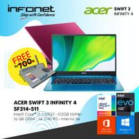 ACER SWIFT 3 INFINITY 4 SF314-511 i7 1165G7 16GB 512GB IRIS XE W10 OHS