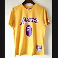 Kaos Bape X NBA logo Lakers Import High Quality ( not LV Gucci )