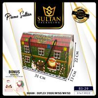 Kotak Hampers Natal - Gable Box - Kotak Packaging - Kotak Kado - Kotak - 31x13x22
