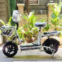 Uwinfly Sepeda Listrik Red Fish Electric Bike Bicycle Sepeda Aki Selis