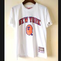 Kaos Bape Newyork X NBA import high quality ( not LV Gucci off white )