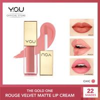 YOU The Gold One Rouge velvet Matte Lipcream[Quick Dry & Non-transfer] - 01 Chic