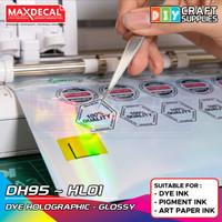 MAXDECAL Stiker Vinyl Hologram Inkjet Coating A3 32x48cm DH95 ECER