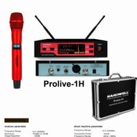 Mic Wireless Hardwell Prolive-1H Original -- Single Mic/1bh Mic Pegang