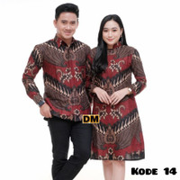 Batik Couple Baju Pesta Sarimbit Batik Papi mami/original Produk
