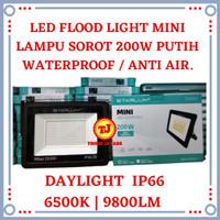 Lampu Sorot LED 200W Mini Flood Light 200 W Tembak Outdoor 200 Watt