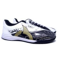Sepatu Futsal Ortuseight Catalyst Revenge IN - Black White Gold Ori
