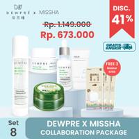 DEWPRE X MISSHA (Set 8) : Fluid +Essence+Cream+Cica+Sun+ 3 Mask KF80