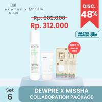 DEWPRE X MISSHA (Set 6) : Fluid + Missha Sun Gel + 3 Mask KF80