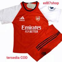 setelan baju bola anak musim 2020-2021 ukuran 22/ untuk umur 10-12thun - arse merah, 22