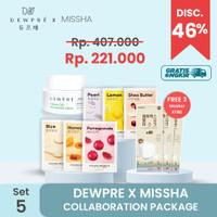 DEWPRE X MISSHA (Set 5) : Dewpre Cream + 6 Airy Mask + 3 Mask KF80