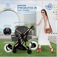 Stroller Babydoes Pronto R / Reversible - Cabin Size - Dark Grey