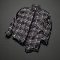 Kemeja flanel pria lengan panjang slimfit quality100% original shirt-3