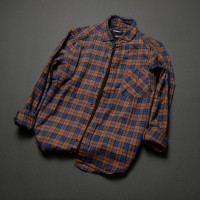 Kemeja flanel lengan panjang premium unisex pola slim fit Shirt 005