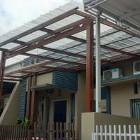 kanopi baja ringan atap spandek transparan