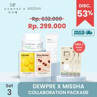 DEWPRE X MISSHA (Set 3) : Cream + Aqua Sun Gel + 2 Airy + 3 Mask KF80