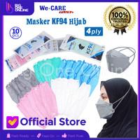 Masker KF94 Hijab, Masker KF 94 Headloop 4 Ply, Convex Masker Korea 4D