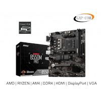 MOTHERBOARD MSI B550M PRO (AMD RYZEN B550 AM4 DDR4 HDMI DP VGA)