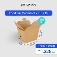 Food Pail Kraft Medium / Kotak Makan Kraft Medium