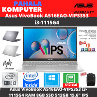 Asus VivoBook A516EAO-VIPS353 i3-1115G4 RAM 8GB SSD 512GB 15,6 IPS