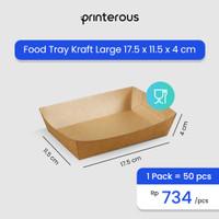 Paper Food Tray Kraft Large / Tray Makanan Kraft / Kertas Makanan