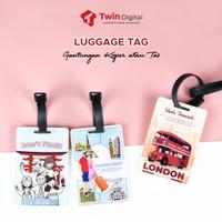 LUGGAGE TAG TRAVEL LABEL KOPER TAS CUSTOM - LUGGAGE TAG AKRILIK
