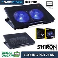 Cooling Pad 2 Fan Cooler Stand Kipas Pendingin Laptop Notebook Gaming
