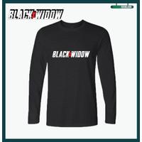 Kaos Baju Black Widow Blackwidow Lengan Panjang