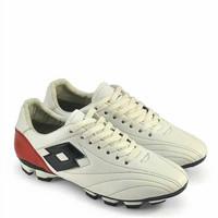 sepatu bola original kulit ori asli warna putih