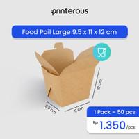 Food Pail Kraft Large / Kotak Makan Kraft Besar