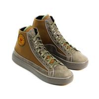 Sepatu Sneakers Kulit Pria Exodos57 Lampero Dark Olive