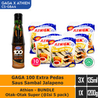 GAGA Sambal Jalapeno, Bakso Athien BUNDLE Otak-Otak Super (CS-GBA4)