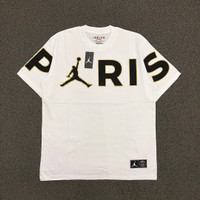 KAOS AIR JORDAN PARIS BIG TEXT JUMPMAN BLACK FONT WHITE FULL TAG