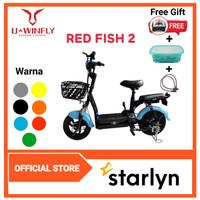 Sepeda Listrik UWINFLY RedFish Sepeda Aki Alt Fiido