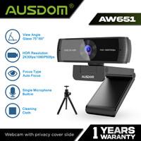 AUSDOM Webcam 2K 30FPS 1080P 60FPS Autofocus with Tripod - AW651