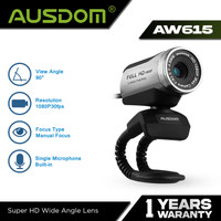 AUSDOM WebCam 1080P PC 12MP with Built-in Mic - AW615