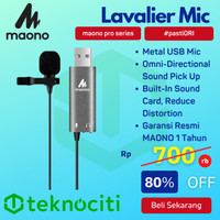 MAONO USB Lavalier Microphone Handsfree / Mic Lapel Clip-On AU-UL20