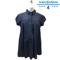 Baju Hamil Kemeja Denim Kancing Depan (0668)