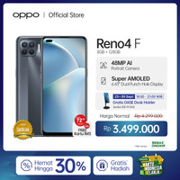 OPPO Reno4 F Smartphone 8GB/128GB (Garansi Resmi)