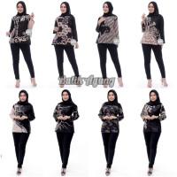 Blouse Batik Wanita Lengan Panjang Modern Terbaru / Baju Kerja Batik