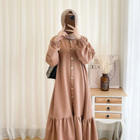 LONG DRESS TUNIK WANITA KOREA MODEL TERBARU MUSLIMAH
