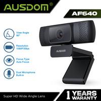 AUSDOM Webcam 1080P Auto Focus w/ Noise Cancelling Microphone - AF640