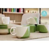 MMS Cup Saucer Claudia 12 Pcs/Cangkir Set Keramik