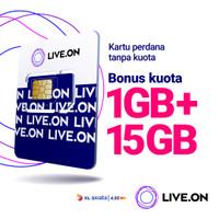 Kartu Perdana Live.On XL Tanpa Kuota 1GB + 15GB Bonus
